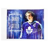 "Darryl Sittler ""The Captain"" Autographed Poster"
