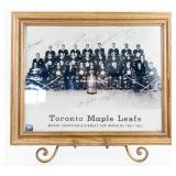 Autographed 1961-62 Toronto Maple Leafs Stanley