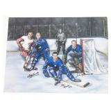 Carl Brewer, Bob Baun, Johnny Bower Autographed