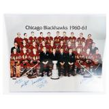 Autographed Chicago Blackhawks 1960-61 Stanley