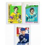 3 Autographed Hockey Cards