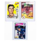 3 Autographed Sports Cards, Includes 2 Baseball,