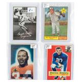 4 Vintage Sports Cards, Includes 3 Football