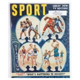 Original 1951 Sport Magazine with Art Cover! In