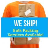 YES! WE SHIP AND BULK PACK!