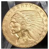 1925 D $2.50 AMERICAN GOLD COIN