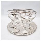 DRINKS TRAY WITH GLASSES