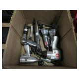Box of assorted air tools