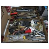 2 Boxes of tools, hammer and hardware