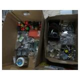 2 boxes of fittings, etc