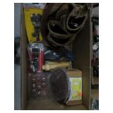 Box with tool belt, door hanger clip etc