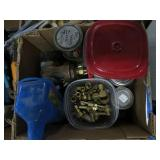 Box of brass fittings
