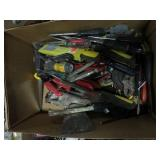Box of vice grips, screw drivers etc