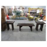 3pc. live edge coffee & end table set