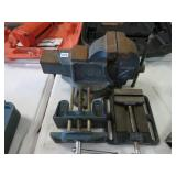 "4 "" bench vise and 2 small ones"