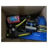 Box of tie straps, tape etc