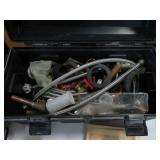 Box of plumbing supplies