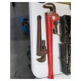 "Ridgid 24""and 14"" pipe wrenches"