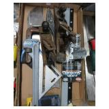Box w/ hand planes, pipe wrench etc