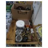 2 Boxes of fittings, screws, timer etc