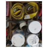Box of straps and electrical items