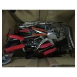 Box of vice grips, pliers etc