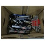Box of ratchet wrenches flare wrenches etc