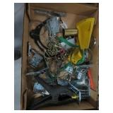 Box of brackets, clamp etc