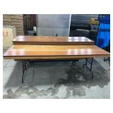 "8ft folding table - 30""W x 30""H"