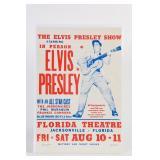 1956 ELVIS PRESLEY SHOW CONCERT POSTER- REPRO