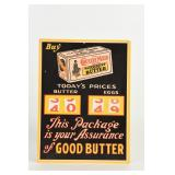 COUNTRY MAID BUTTER & EGGS CARDBOARD ADVERTISING