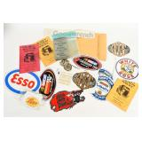 GROUPING OF AUTOMOTIVE & ANTIQUE ENGINE DECALS +