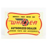 1993 WHIZZER AUTHORIZED DEALER EMBOSSED SST SIGN