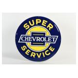 CHEVROLET SUPER SERVICE S/S ALUM. EMBOSSED SIGN