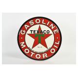 TEXACO GASOLINE MOTOR OIL S/S ALUM. SIGN- NEW