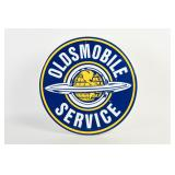 OLDSMOBILE SERVICE S/S ALUM. EMBOSSED SIGN-NEW