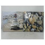 Wieco Art - Romantic Beach Theme 4 Panels Modern G