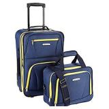 Rockland Carry On Luggage 2 Piece Set, Navy