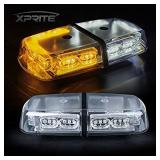 Xprite White&Amber/Yellow 36 LED Roof Top Mini