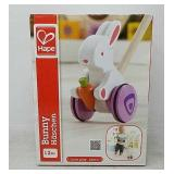 Hape Bunny Wooden Push and Pull Toddler Walking To