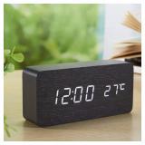 ORYOUGO Wooden Digital Alarm Clock-Modern Stylish