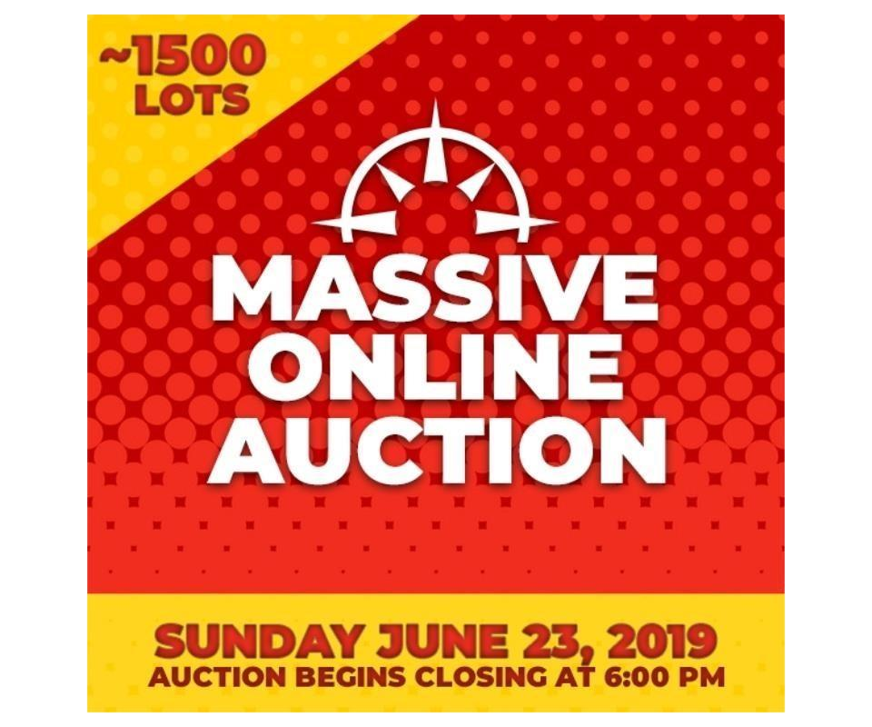 Massive Online Auction - Sunday June 23, 2019