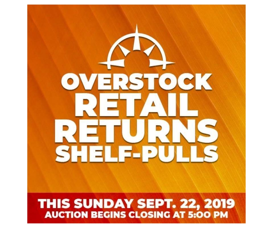 Overstock Retail Retuns Shelf Pulls Sunday Sept 22 2019