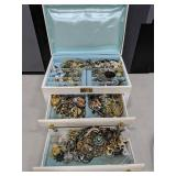 Jewelry Box Containing Large Lot of Vintage Jewelr