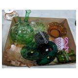 Box Lot of Glass Collectibles