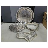4 Pieces of Vintage Silver Plate Items