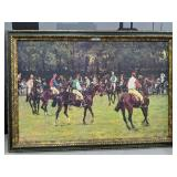 R. Panezal Framed Horses and Riders Print on Canva