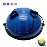 Z ZELUS 23 Inch Large Yoga Balance Ball Trainer wi
