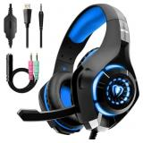 Beexcellent Gaming Headset for PS4 Xbox One, Over-
