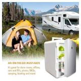 Portable Compact Personal Mini Fridge Cools & Heat